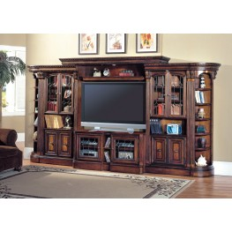 Huntington Exp. Large Glass Door Entertainment Wall Unit