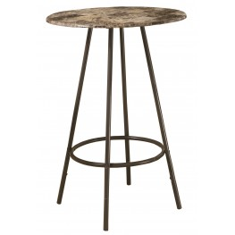 2310 Cappuccino Marble / Coffee Metal Bar Table