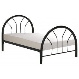 2389B Black Metal Twin Bed Frame Only