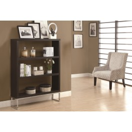 """2558 Cappuccino Hollow-Core / Chrome Metal 60"""" Room Divider"""