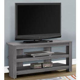 """Gray 42"""" Corner TV Stand"""