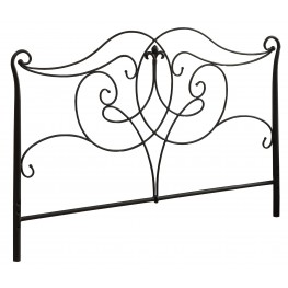 2611Q Satin Black Queen / Full Size Headboard / Footbaord