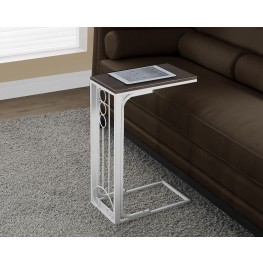 Antique White Metal Cherry Top Accent Table