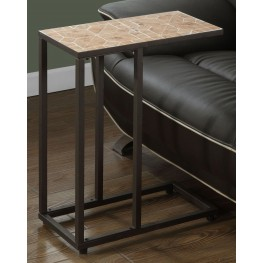 Terracotta Tile Top Snack Accent Table