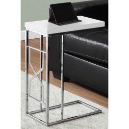 Glossy White Accent Table