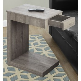 3191 Dark Taupe Drawer Accent Table