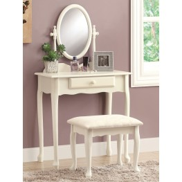 3412 Antique White Vanity With Stool