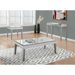 Brushed Silver Occasional Table Set
