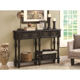 "3885 Antique Black 48"" Traditional Console Table"