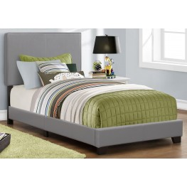 Twin Gray Platform Bed