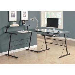7172 Black Metal L Shaped Computer Desk