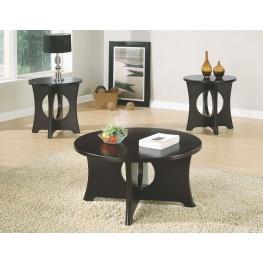 3 Piece Dark Espresso Top Table Set
