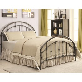 Maywood Dark Bronze Curved Twin Metal Bed