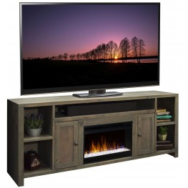 """Joshua Creek Barnwood 84"""" Super Fireplace"""