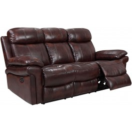Shae Joplin Brown Leather Power Reclining Sofa