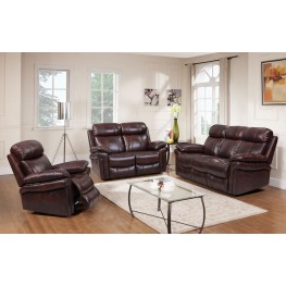 Shae Joplin Brown Leather Power Reclining Living Room Set