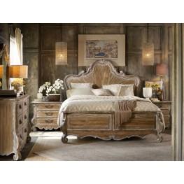 Chatelet Brown Wood Panel Bedroom Set