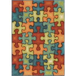 I'm Puzzled Rainbow Medium Rug