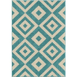 Kids Court Kids Boxes Maricopa Blue Small Area Rug