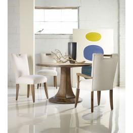 Melange Brown Barrett Round Dining Room Set