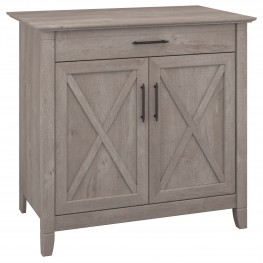 Key West Washed Gray Laptop Storage Desk Credenza