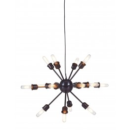 Jesenia Black and Nickel Metal Pendant Light