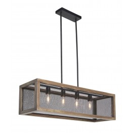 Jodene Brown and Black Wood Pendant Light
