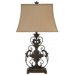 Sallee Gold Crackle Metal Table Lamp
