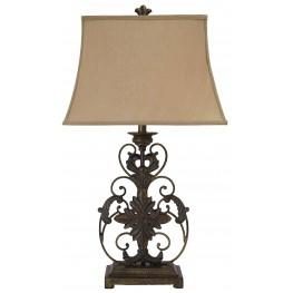 Sallee Gold Crackle Metal Table Lamp
