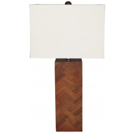 Tabeal Brown Wood Table Lamp