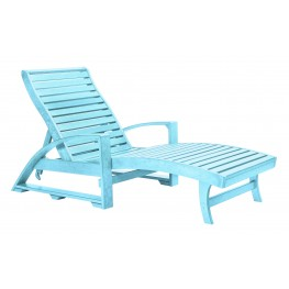 St. Tropez Aqua Chaise Lounge with Wheels