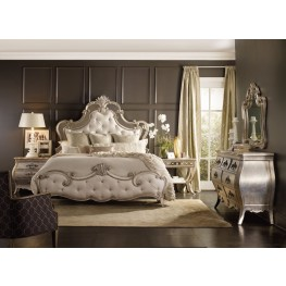 Sanctuary Silver and Beige Upholstered Panel Bedroom Set
