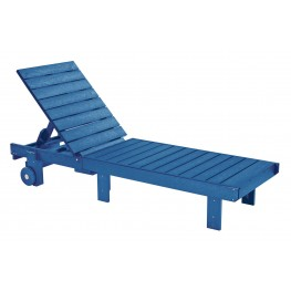 Generations Blue Chaise Lounge with wheels