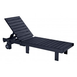 Generations Black Chaise Lounge with wheels