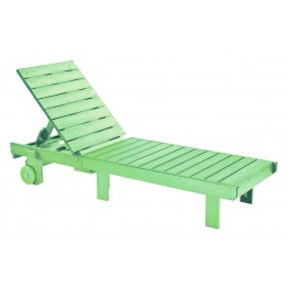 Generations Lime Green Chaise Lounge with wheels