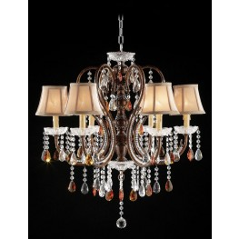 Juliet Golden Brown Hanging Crystal Ceiling Lamp