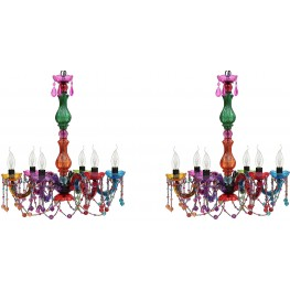 Emil Red And Green Ceiling Lamp Set Of 2