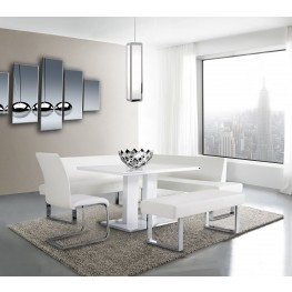 Amanda White Dining Room Set
