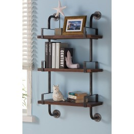 "Booker 40"" Gray Walnut Wood Floating Wall Shelf"