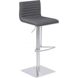 Cafe Gray Adjustable Metal Barstool Set of 2