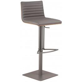 Cafe Gray Adjustable Metal Barstool