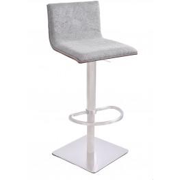 Crystal Brushed Steel Barstool