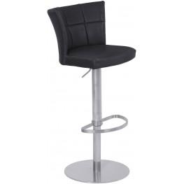Encore Black Adjustable Metal Barstool Set of 2