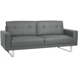 Lincoln Mid-Century Gray Upholstered Futon Sofa Bed