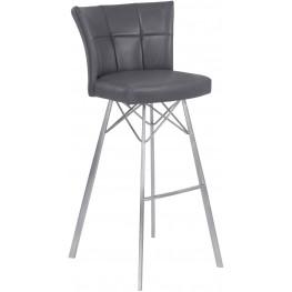"Spago Vintage Gray 26"" Counter Height Metal Barstool Set of 2"