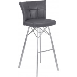 """Spago Vintage Gray 30"""" Bar Height Metal Barstool Set of 2"""