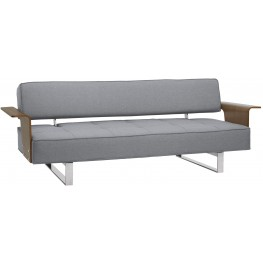 Taft Gray Convertible Mid-Century Futon Sofa Bed
