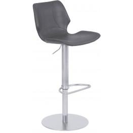 Zuma Vintage Gray Adjustable Metal Barstool Set of 2