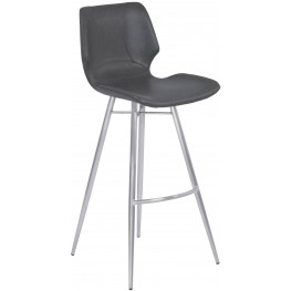 """Zurich Vintage Gray 26"""" Counter Height Metal Barstool Set of 2"""