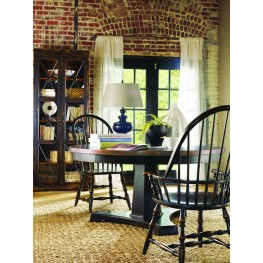 Sanctuary Ebony and Copper Round Dining Room Set